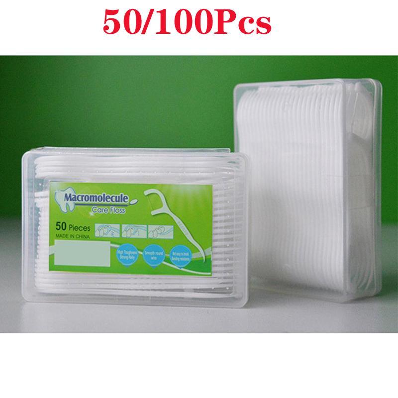 50/100x Стоматологическая нить Зубная устная межзубная щетка Стик Floss Здоровый