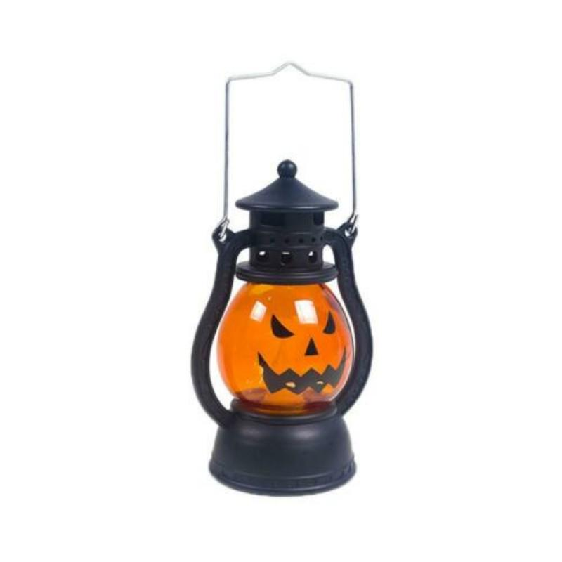 Brown Halloween Oil Lamp Lights Prop Ornament Small Oil Lamp Hanging Retro Lights Halloween Vintage Oil Lamp for Halloween Outdoor Indoor Decorations