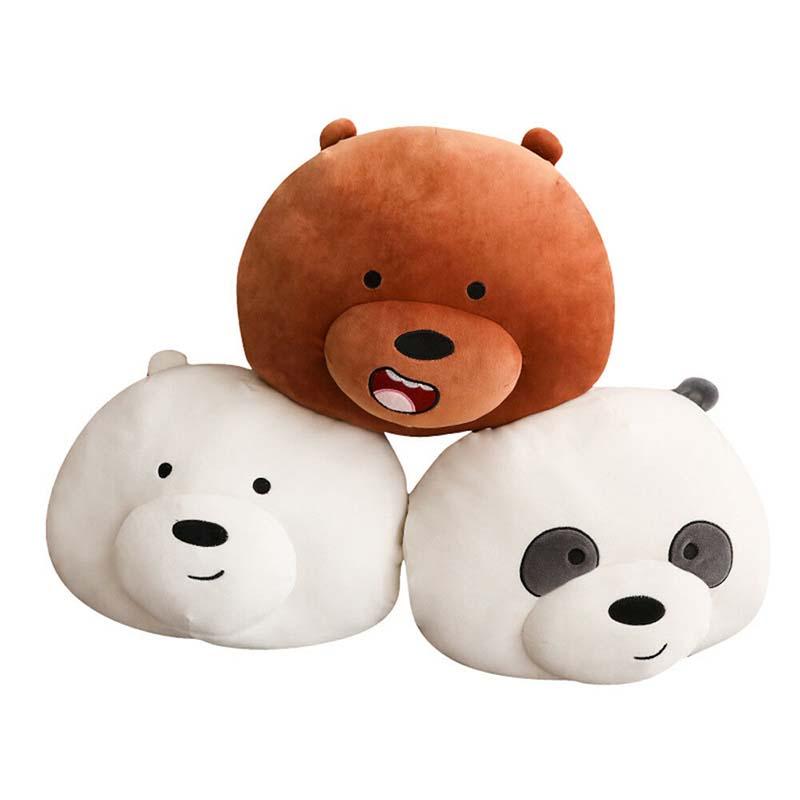 We Bare Bears Panda Ice Bear Plush Toys Stuffed Doll Soft Pillow Kids Cute Gifts