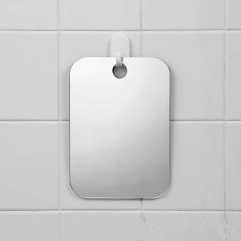 Anti Fog Shower Mirror Bathroom No Fog Shaving Fogless Fog Free Mirror 17x13cm