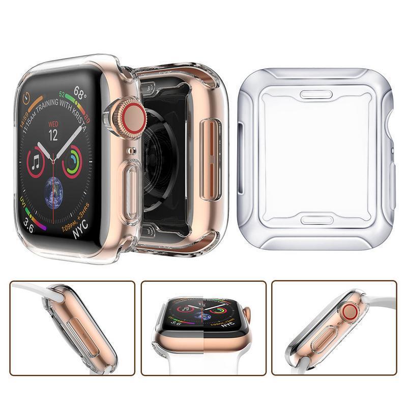 Смарт-часы экран протектор Чехол для Apple Watch Series 5 4 1 2 3 Case Силиконовый для Apple Watch 4-го 5-го поколения защитные бамперы фото