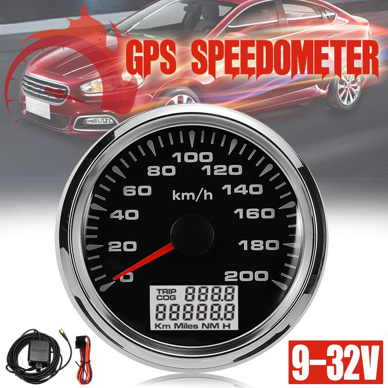 85mm Digital Stainless GPS Speedometer Gauge Auto Car Gauge 200KM//H DC9-32V NEW