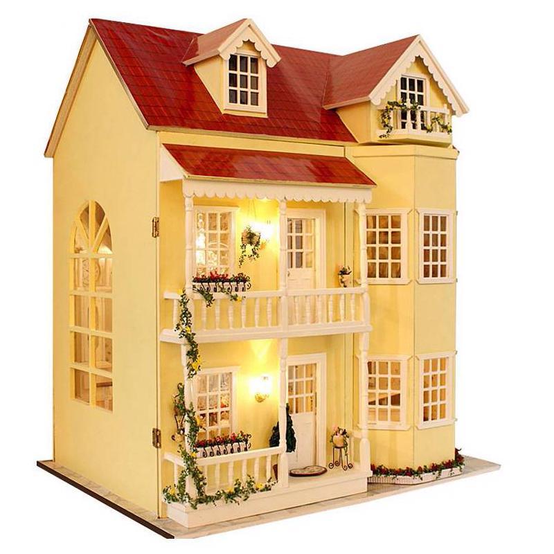 Proyecto de miniatura bricolaje Artesanía mi princesa pequeño chalet de madera casa de muñecas