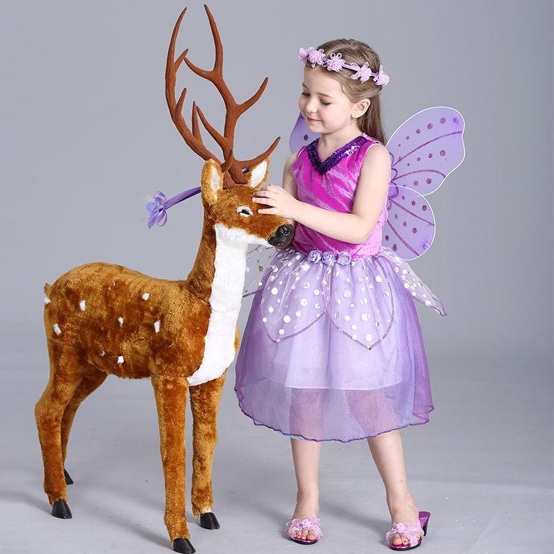 Niños niño niñas vestidos de hadas fantasia princesa vestido desfile ...