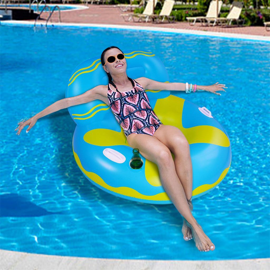 Queta Water Hammock Pool Air Mat Water Mat Pool Toys Inflatable Pool Bed Beach Mattress