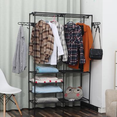 QWH Solid Wood Coat Rack Floor 8-Hook Clothes Hanger Bedroom Clothing Hat Display Stand Creative Home Furniture,White A