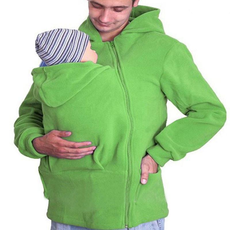 Hombres suéter abrigo otoño invierno Multi - funcional madre canguro ... 06e778dbec79