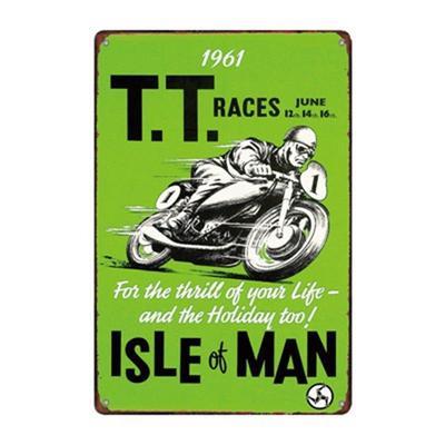 1961 ISLE OF MAN TT MOTORBIKE RACING VINTAGE KEYRING