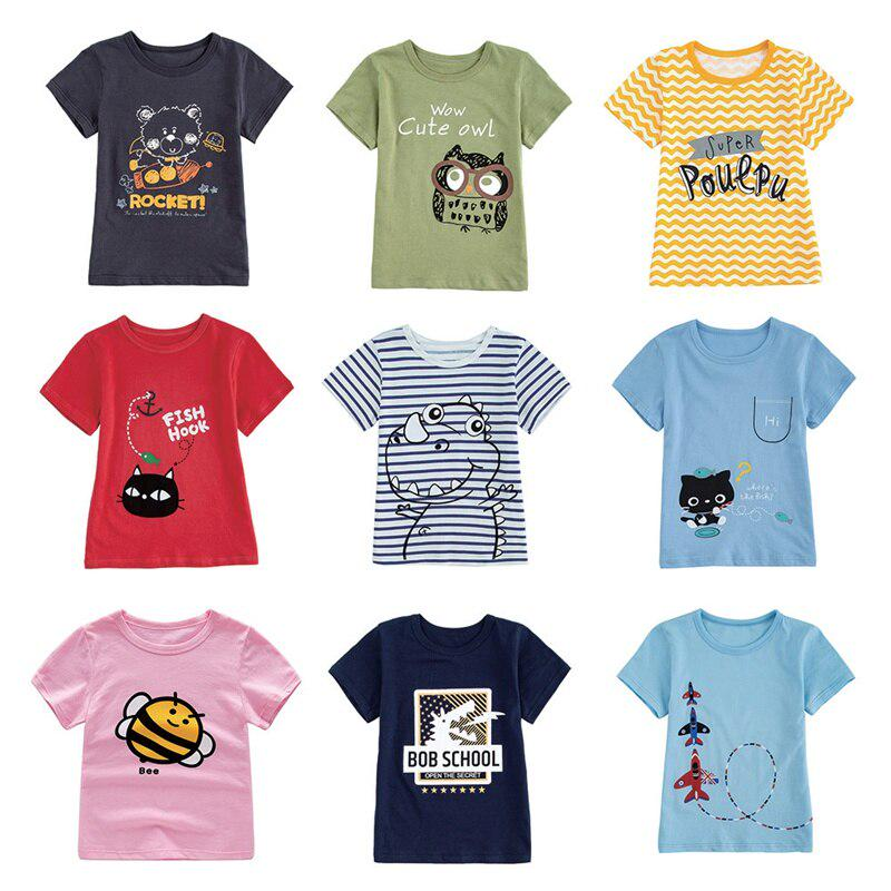 Christmas Polo Shirt Baby Boy T-Shirt Short Sleeve Kids Tops Casual Blouse for Age 1-6 Years Old