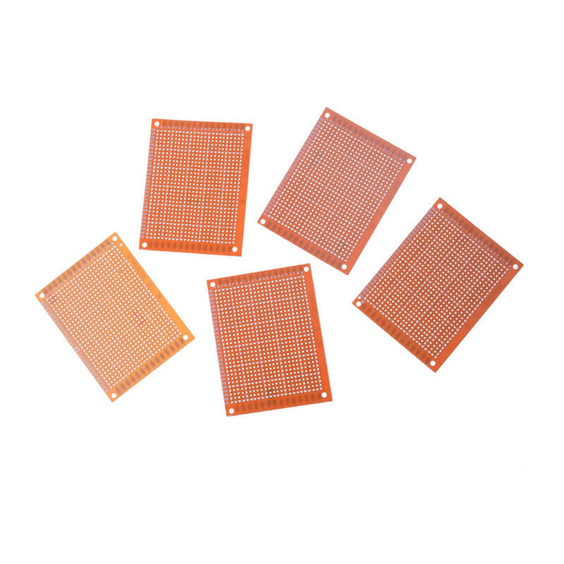 5pcs prototyping pcb circuit board strip board 90x70mm copperPrototyping Pcb Home School Project Circuit Board Stripboard 90x70mm #12