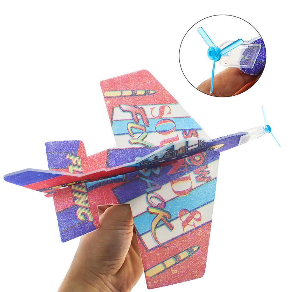Blue Panet 4Pcs 360 Degrees Fly Back Gliders Planes Outdoor Flying  Developmental Children Toy
