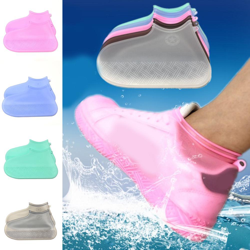 Protetores interior exterior reutilizável sapatos cobrir sapatos de silicone impermeável