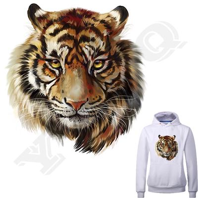 Tiger Stickers For Clothing T-Shirts A Level Household Personality  Washable DIY Animals Patches