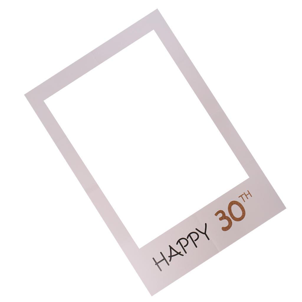 Feliz 30 stand Prop papel Selfie marco de la foto de fondo para ...