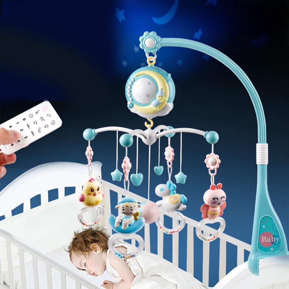 Детские Rattles Crib Мобильные игрушки держатель вращающийся Crib Мобильный кровать Музыкальная коробка Проекция Детские игрушки фото