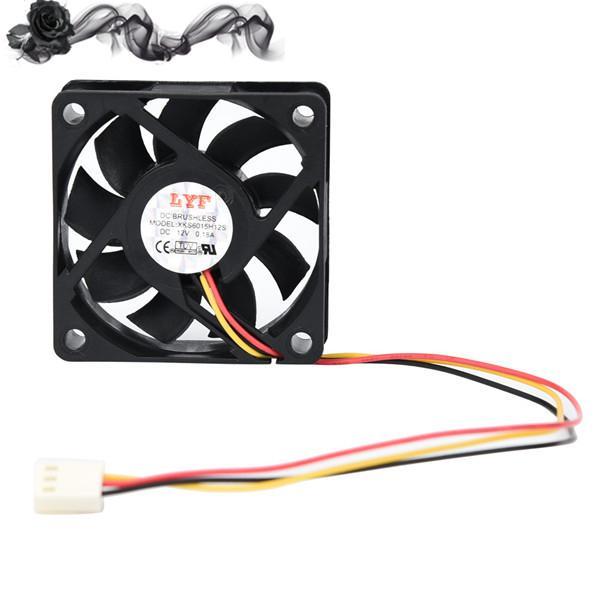 2Pcs 2-pin 12V Mini Cooling Computer Fan-Small 40mm x 10mm DC Brushless 3000RPM