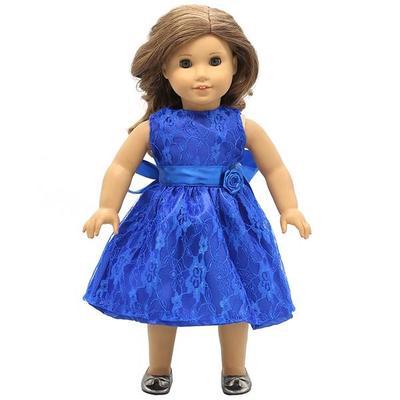 Blaues Kleid Puppe Kleidung passt 18\