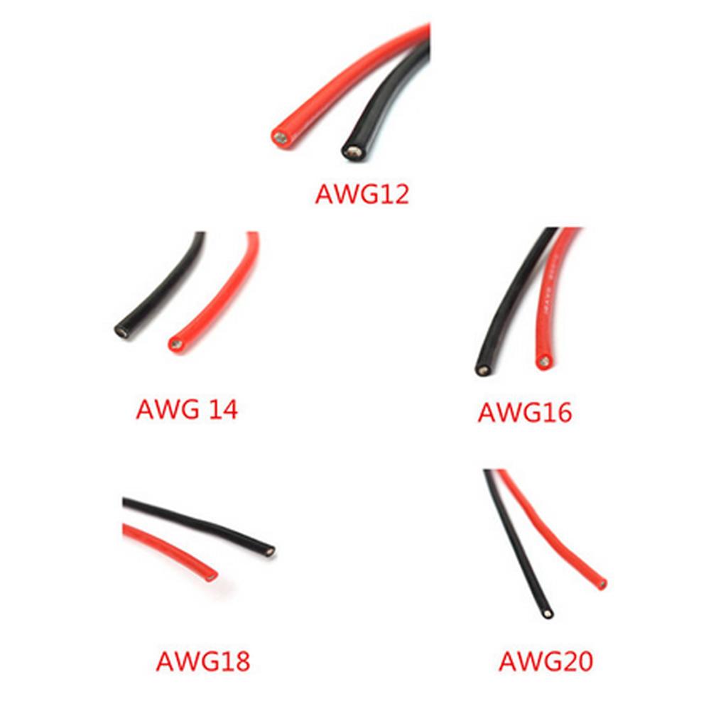 2M AWG weichem Silikon biegsamen Draht Kabel 12 AWG 20 – günstig im ...