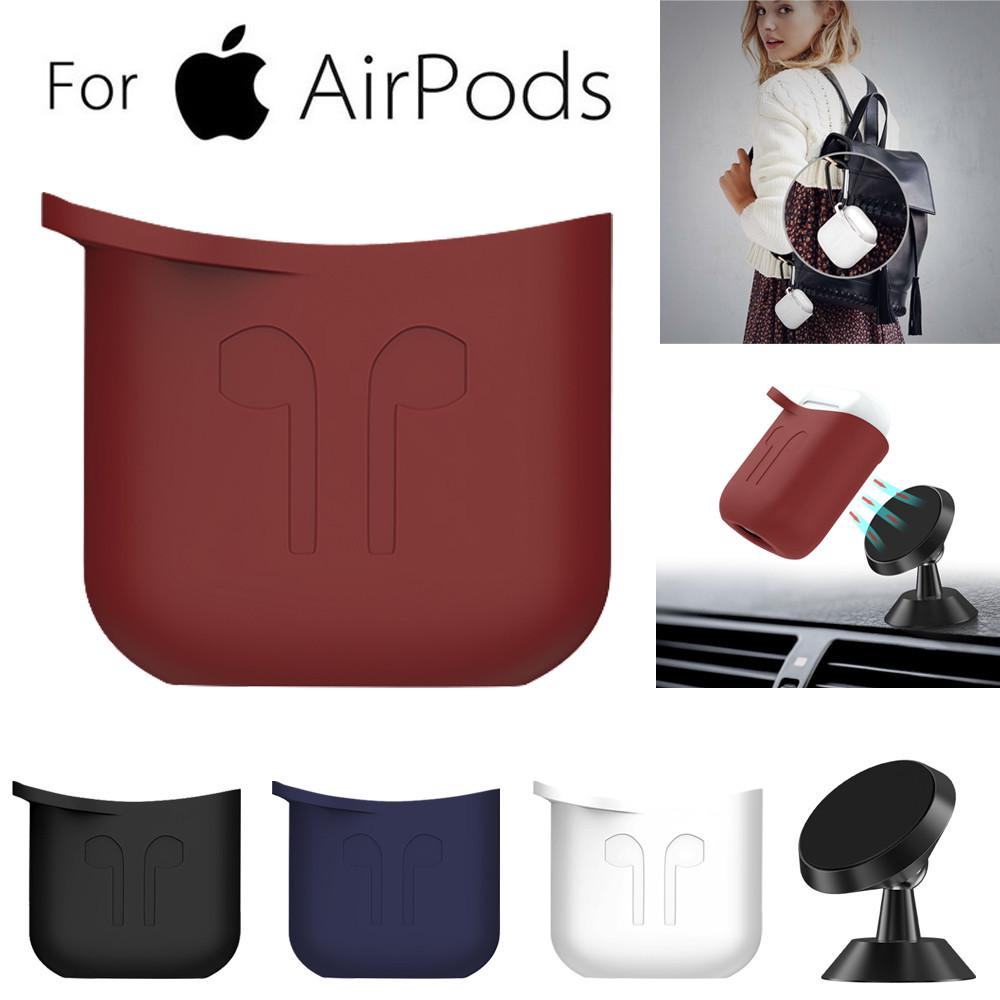 2 Earphone Straps 7 Pcs AirPod Set Charging Case Protective Cover 7 in 1 Accessory Kit Hard Case Pouch with Keychain compatible with Apple AirPods 2 /& 1 2 Pairs of Silicone Earbud Skin Covers