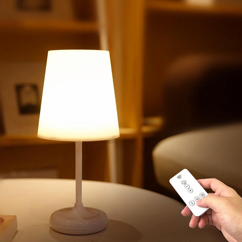 Simple Wireless Led Table Lamp Usb Charging Bedside Night Light With Remote Controller Buy At A Low Prices On Joom E Commerce Platform
