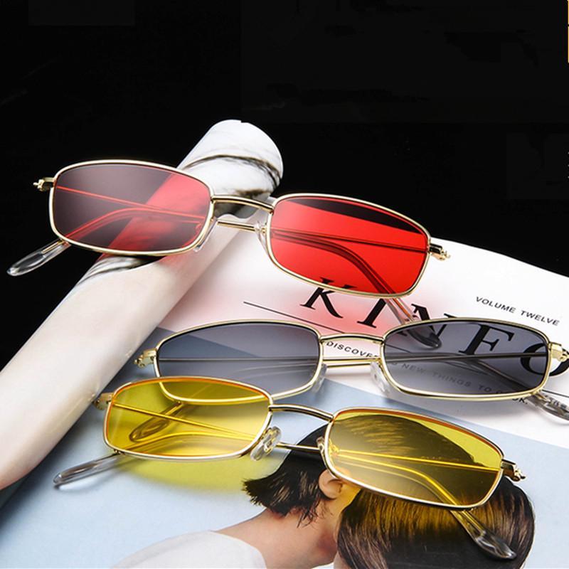 Womens Mens Fashion Sunglasses Rectangular Shades Cute Sun Glasses Retro Eyewear