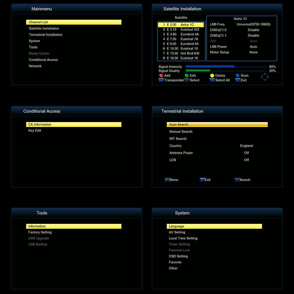 FREESAT V7 HD DVB-T2+S2 COMBO 1080P Video Broadcasting Receiver Box DVB-T/S