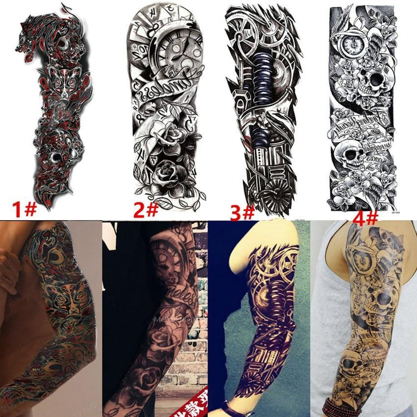 Tatuaz Z Krotkim Rekawem Tatuaz Z Czaszka I Zegar Tribal Polynesian