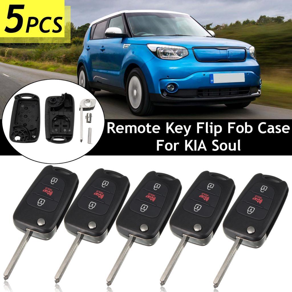 4 Button Leather Key Cover Remote Fob Smart Holder for Hyundai Sonata Tucson Kia Optima Sorento