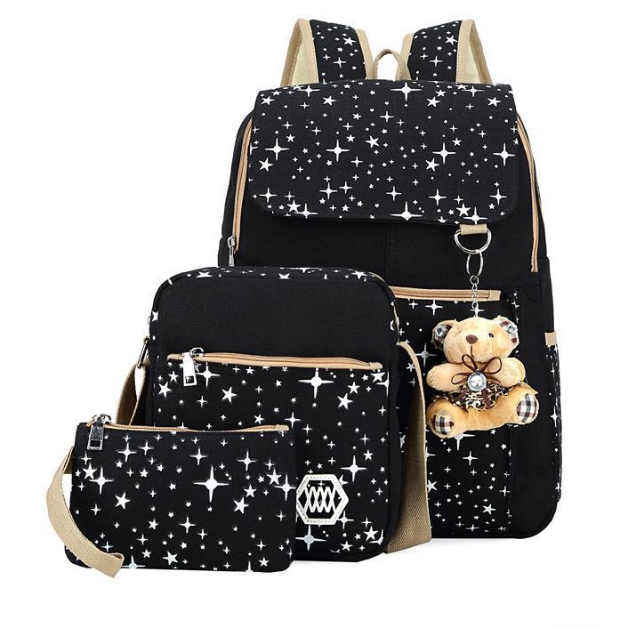 0ab488e229b4 BAIJIAWEI Набор из рюкзака и сумочек для девочек для учебы или путешествий