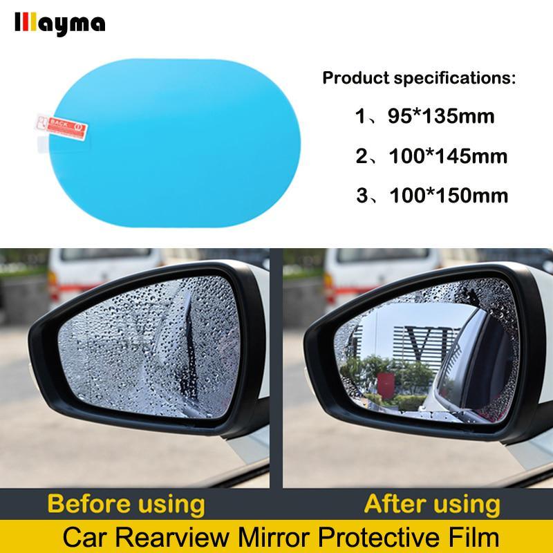 2X Car Rear View Mirror Rainproof Anti-fog Film Sticker Wing Mirrors Rain Shield