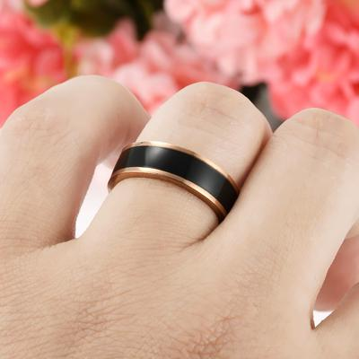 ab529597f066 Simple hombres titanio acero negocio boda compromiso dedo anillo banda  joyería