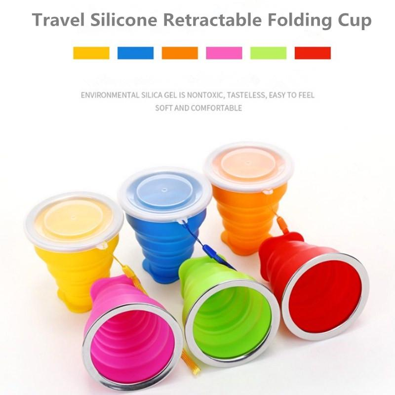 Silicone Portable Retractable Folding Cup Telescopic Collapsible Travel Camping