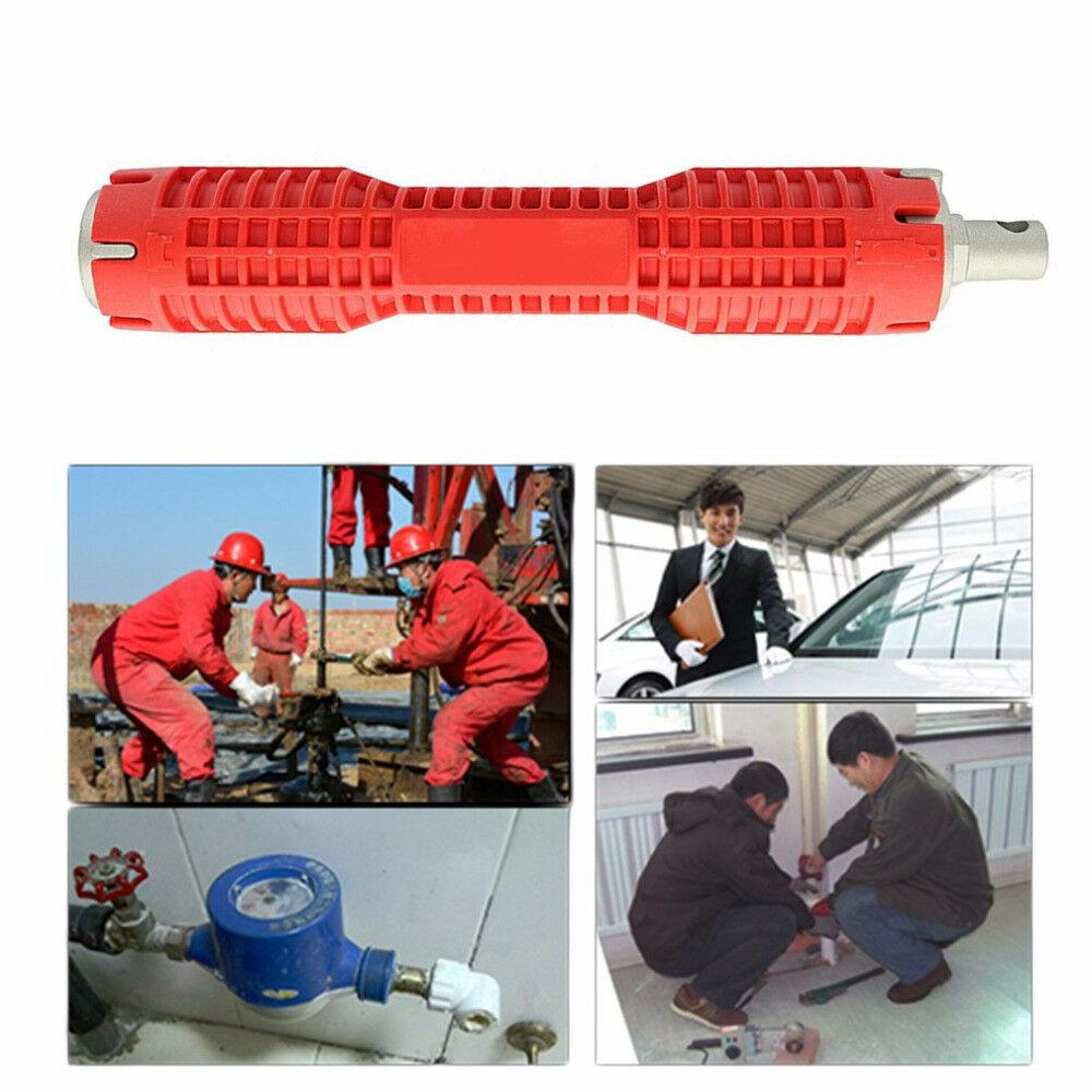 Multifunction Faucet Wrench Sink Installer Tool Water Pipe Spanner Tackle Tool