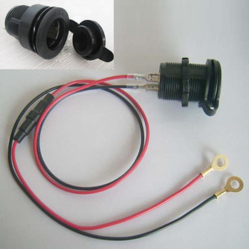 Twin 12V Car Motorcycle Smoke Lighter Socket Plug Connector Adapter 2 Outlet