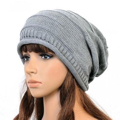 39fb901e29 Moda zimowa Retro kobiety Unisex Mężczyźni Przewód ponadgabarytowy dzianiny  dzianiny Baggy Slouch Beanie Hat Cap