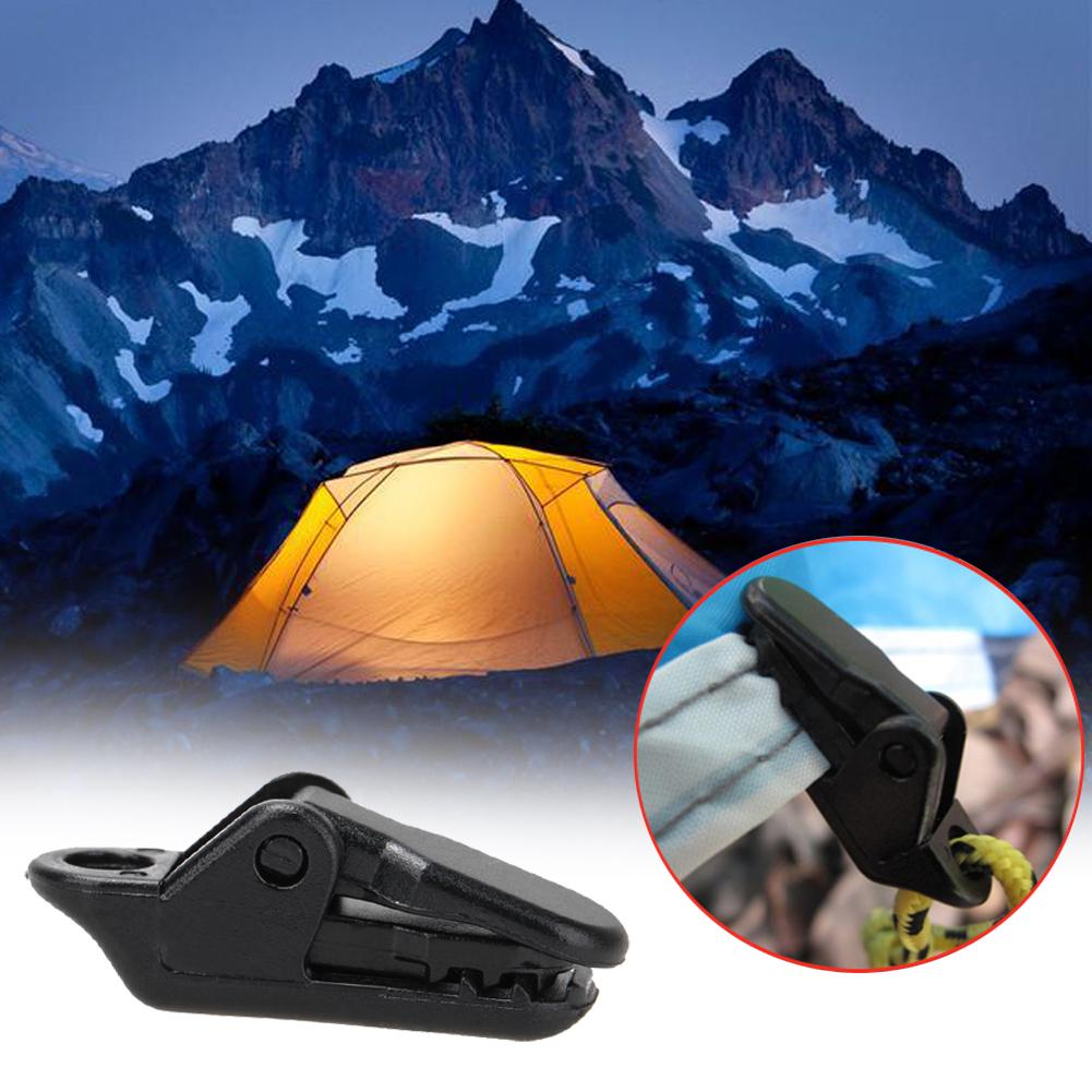 10 PCS//Sets Selling Tents Awning Wind Rope Clamp Awnings Plastic Clip #ORP
