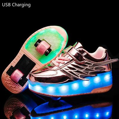 Kids LED Roller Shoes Glowing Light