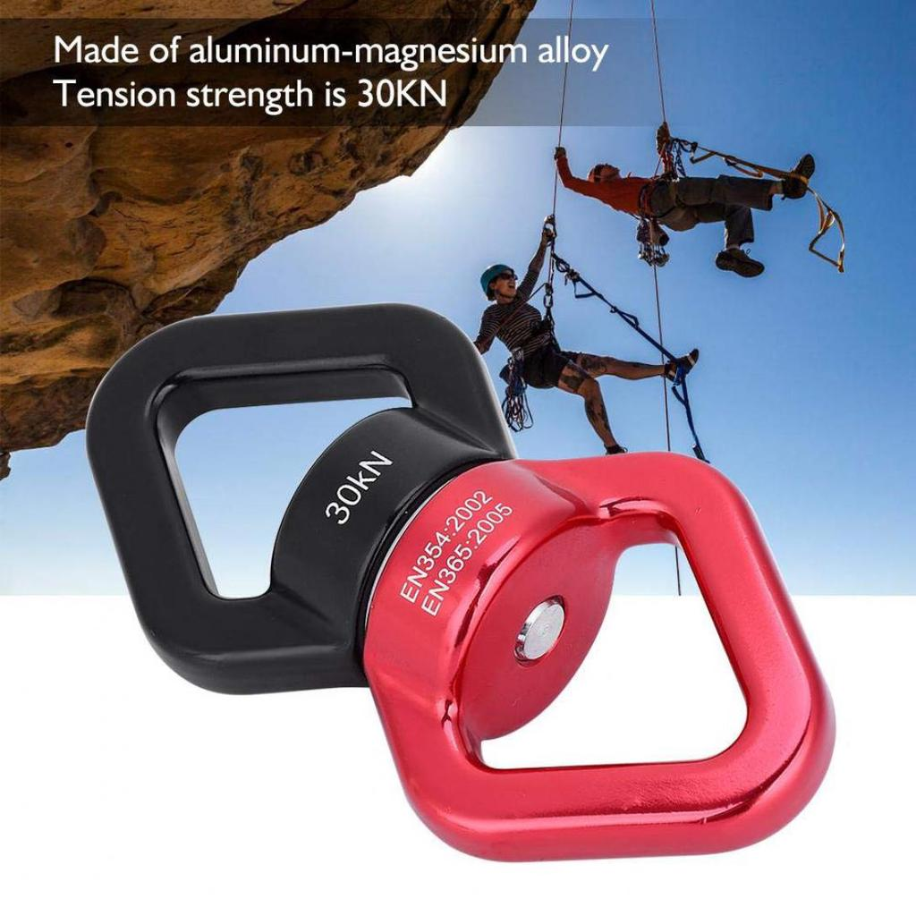 30KN Safety Rope Swivel Rotational Connector for Climbing Aerial Dance