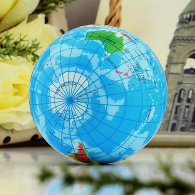 Seedling squeeze stress earth ball world globe map relief soft foam world map earth globe soft squeeze foam ball hand wrist exercise stress relief gumiabroncs Images