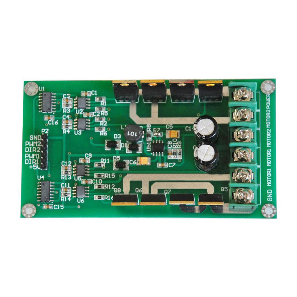3V-36V Dual Motortreiber Board Modul H-Bridge DC MOSFET IRF3205 15A ...