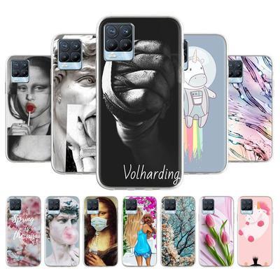 Soft TPU Phone Case For OPPO Realme 8 Pro Realme 8 Phone Cover Anti-fall Anti-dust Bumper Back Shell Protection Fundas Coque