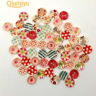 50Pcs Mixte Animal Fleur 2 trous Bois Boutons Couture Craft Scrapbooking tendance