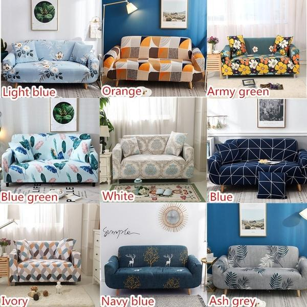 1PC Sofa Slipcover or Pillowcase Dining Chair Couch Decor Protector Pure Color