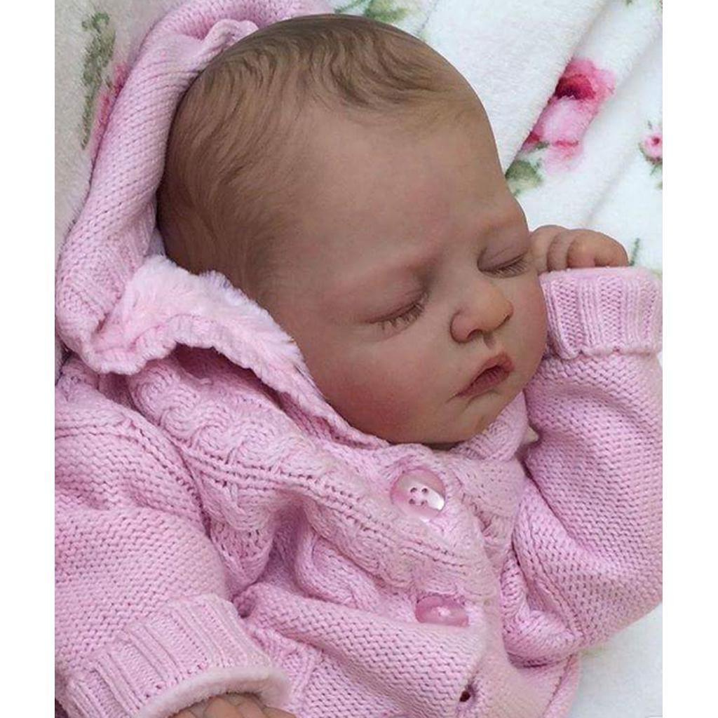 "11/"" Unpainted Reborn Kit Full Body Vinyl Doll Newborn Baby Boy Doll Handwork"