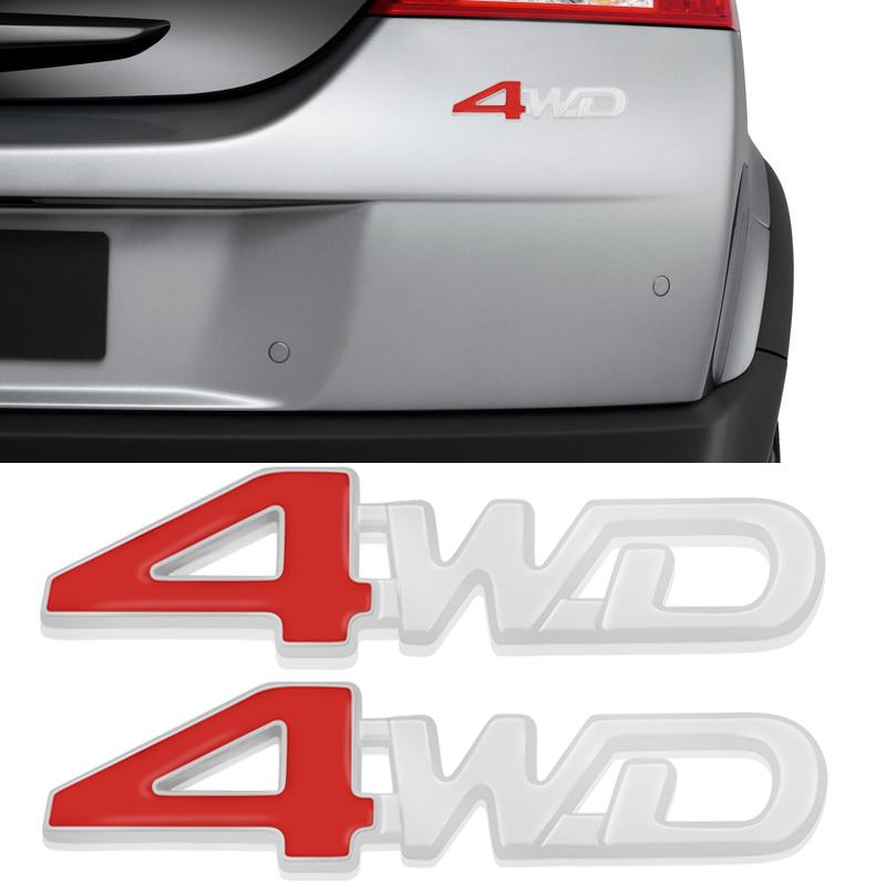 Pair Sline Aluminum Chrome Side Front Car Sticker Emblem Badge Decal