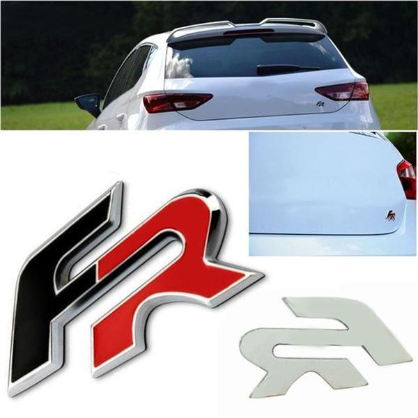 Seat Leon CUPRA Emblem Badge Sticker Chrome Black Red Flag Side body Decoration