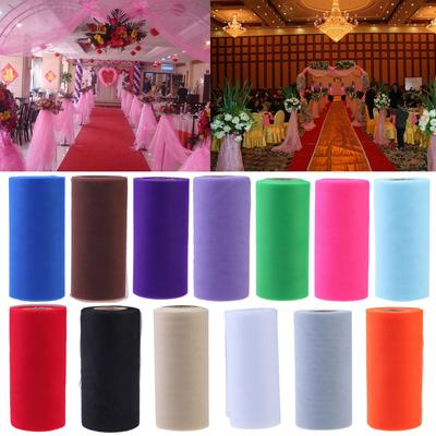 """6/"""" 100 yards Tutu Tulle Roll Spool Wedding Party Decoration Gift Wrap Craft Bow"""
