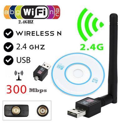 Mini 150Mbps USB WiFi Wireless Adapter Dongle LAN Card 802.11n//g//b w//Antenna MT