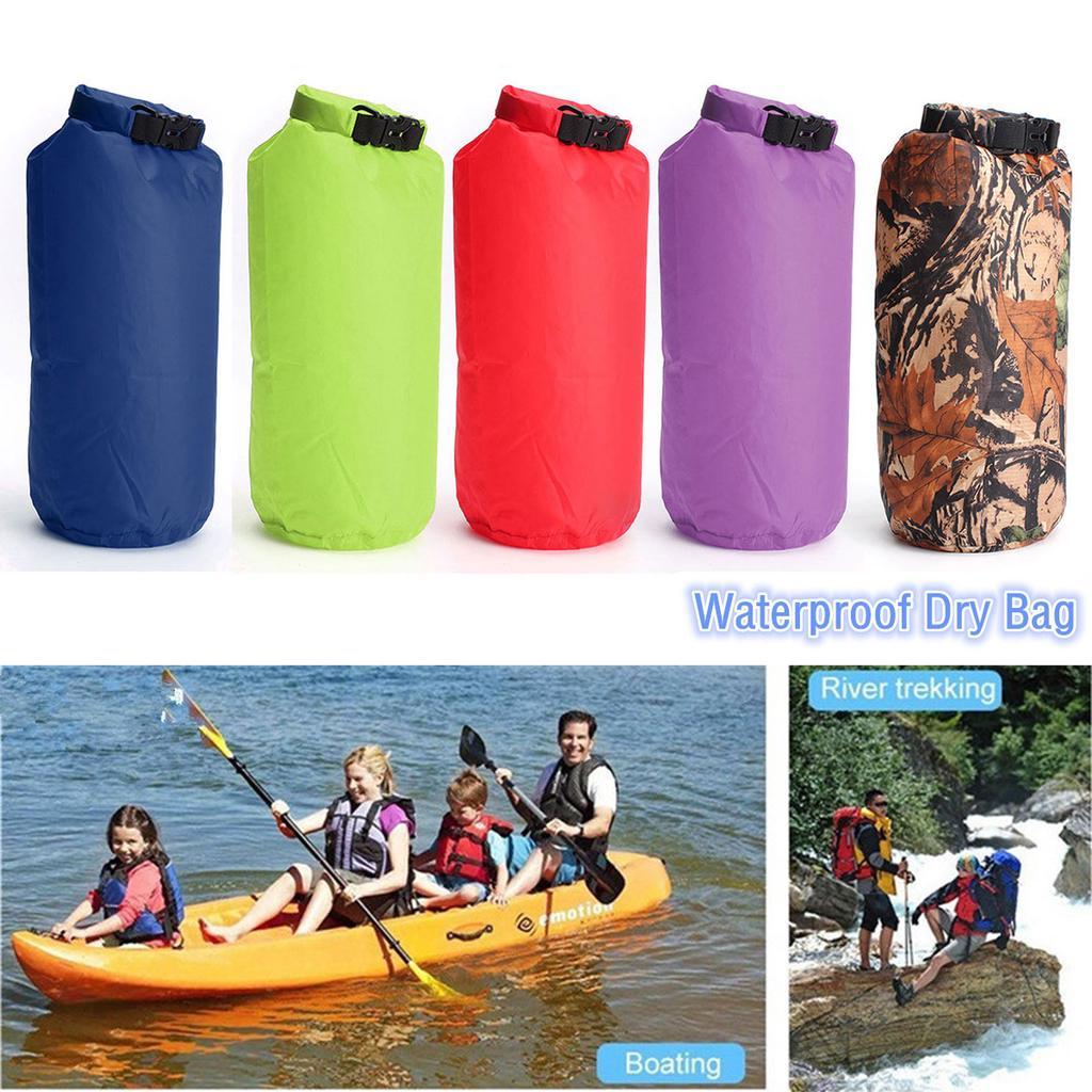 Lightweight Small Waterproof Dry Sack Bag for Boating Kayaking Canoe Purple