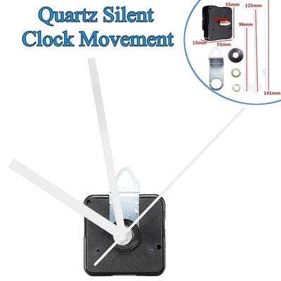 Silent Large Wall Clock Quartz Movement Mechanism White and Red Hands Repair Kit Tool Set With Hook